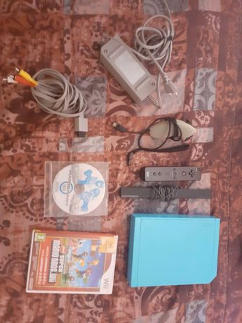 (LER DESCRIÇÃO PFVR) Nintendo Wii azul+ jogos e acessórios