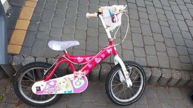 Rowerek dziewczęcy koła 16 cali Barbie