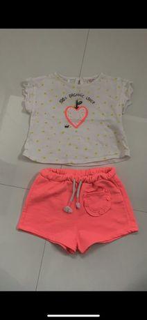Komplet na lato dla dziewczynki(koszulka,spodenki) ZARA