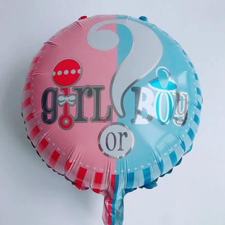 Balon gril or boy gender reveal party baby shower pępkowe