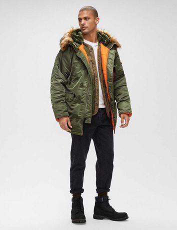 Мужская зимняя куртка Аляска Slim fit N-3B Alpha industries USA