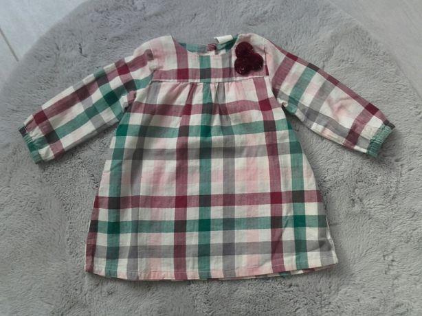 Sukienka krata H&M r. 80