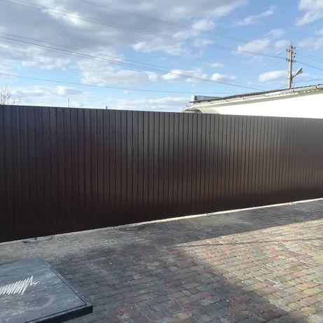 Забор из профнастила, ворота