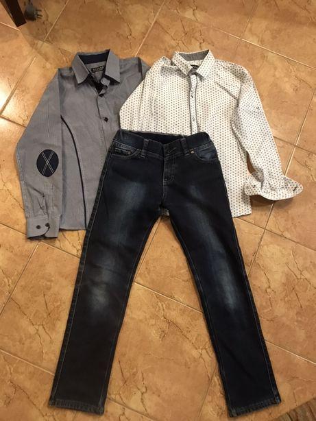 Тёплые джинсы + рубашки