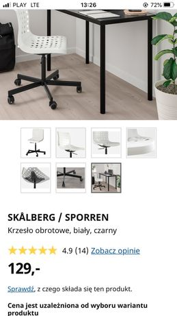 Ikea stołek obrotowy do biurka