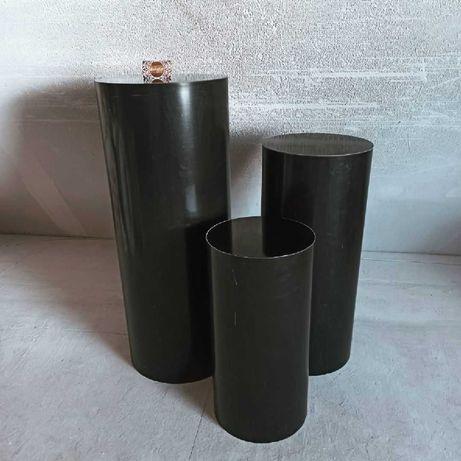 Підставка колона тубус чорний стійка чорна декор фотозона стол тумба