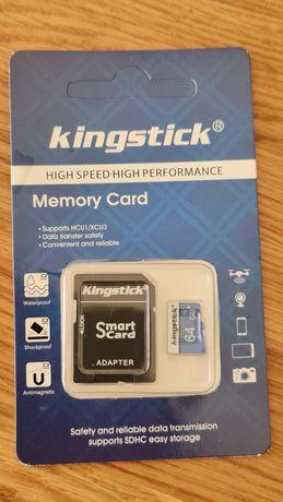 Cartão de memória microSD 64gb com adaptador por abrir