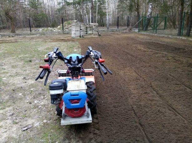 Usługi glebogryzarka separacyjna trawnik w jeden dzień
