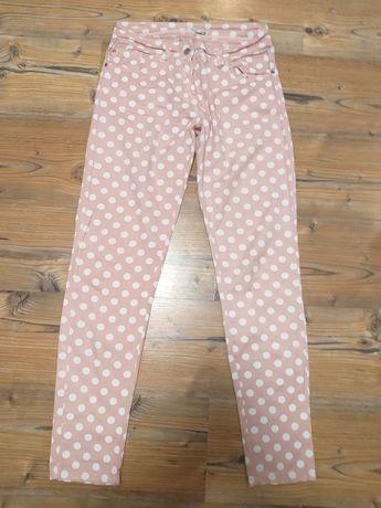 Cieniutkie spodnie w groszki r.S
