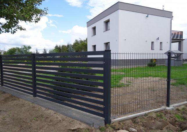 Ogrodzenia panelowe h=1500mm z podmurówką. Panele ogrodzenia Sochaczew