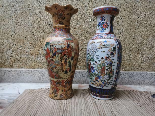 Jarra de Porcelana - Motivos orientais - 60 cm