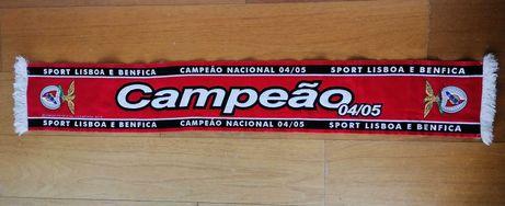 Cachecol Benfica Campeão - 2004 - NOVO!