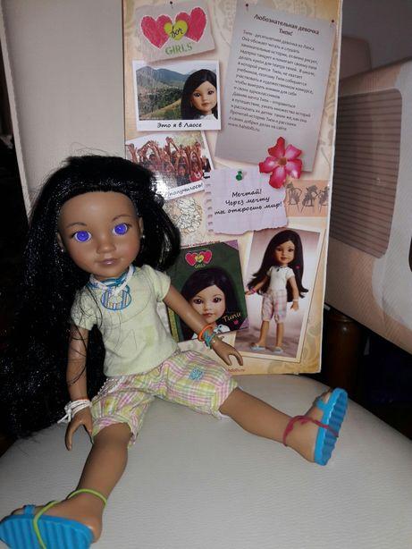 Лялька вінілова (кукла Типи) 36 см на шарнірах Hearts4hearts