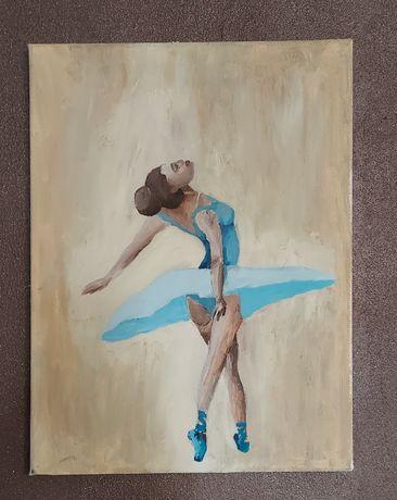 Baletnica obraz na płutnie ręcznie malowany