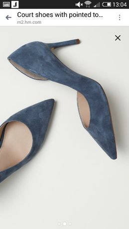 Туфли замша H&M