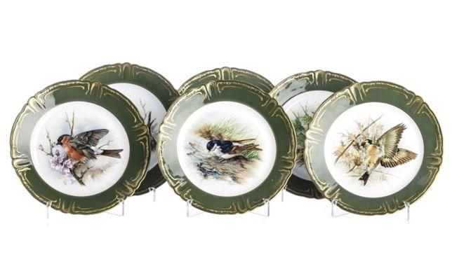 Seis pratos Vista Alegre aves série limitada e numerada de 250