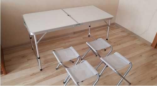 Раскладной стол чемодан для отдыха пикника рыбалки кемпинга 4 стула