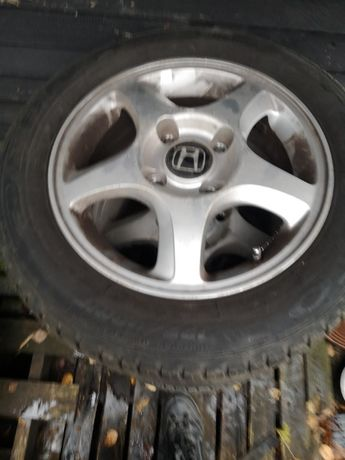 Alufelgi z Oponami letnimi, Koła. Honda 15'', 4 x 114,3, Hyundai Volvo