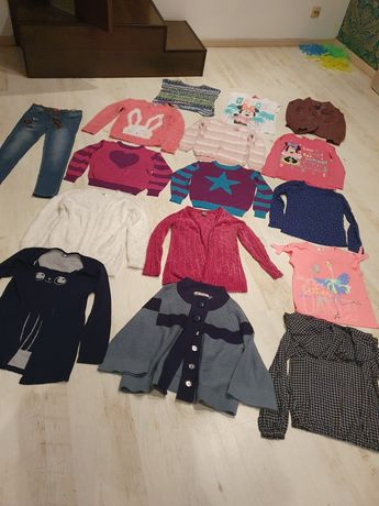 Paka ubrań zestaw dla dziewczynki r.128
