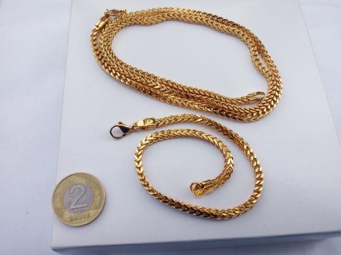 Złoty łańcuszek,pozłacany łańcuszek,bransoletka GRATIS,14k,monnari,yes Ostrów Wielkopolski - image 1