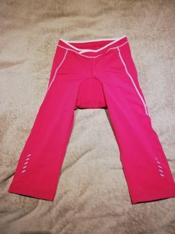 Różowe spodnie sportowe na rower Crivit S