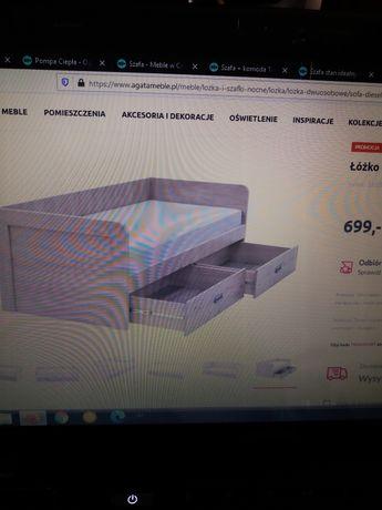 Nowe łóżko DIESEL 2S/90, nowy materac CEDR lato/zima 90×200