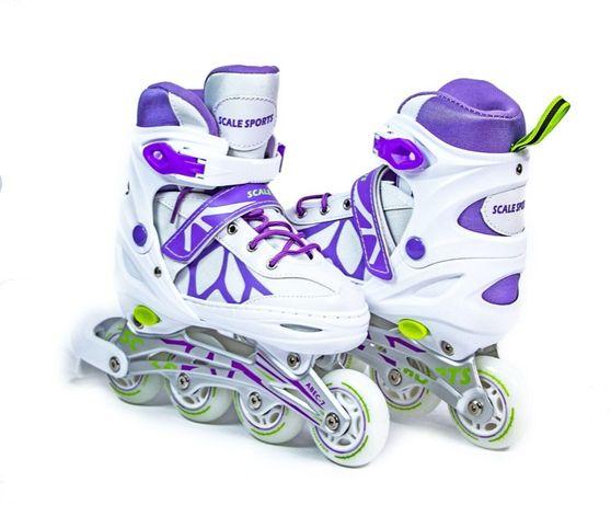 Детские ролики Scale Sport для детей роликовые коньки раздвижные