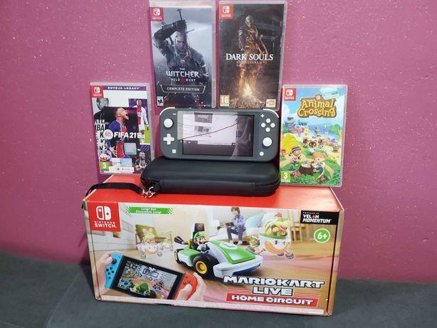 Nintendo Switch Lite /Super mega Zestaw GIER! + dodatki!