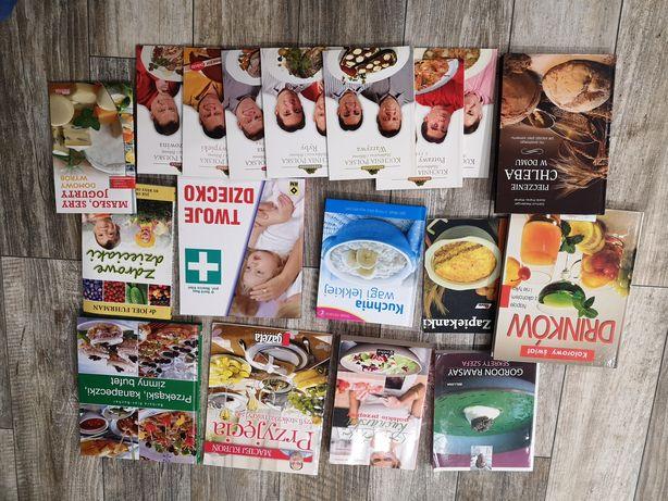 Książki kucharskie mix 18szt