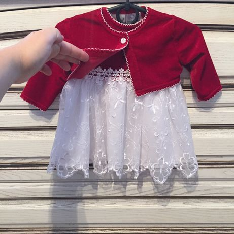 Нарядное платье на крестины , новогоднее на девочку , 3-6 мес