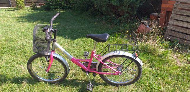 Rower 20'' dla dziewczynki 8-10 lat