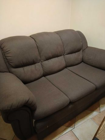 Komplet wypoczynkowy, kanapa rozkładana i dwa folele