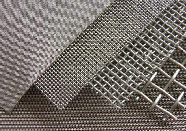 Нержавеющая сетка тканная металлическая. Наложка по Украине