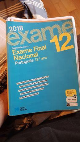 Livro de preparação 12°, português, com apontamentos
