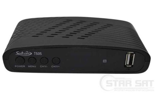 Ресивер (кабельный и эфирный с IPTV Megogo Youtube) SATCOM T505