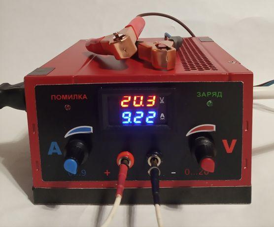 Регулируемый блок питания, зарядное уст-тво для автомобильных батарей