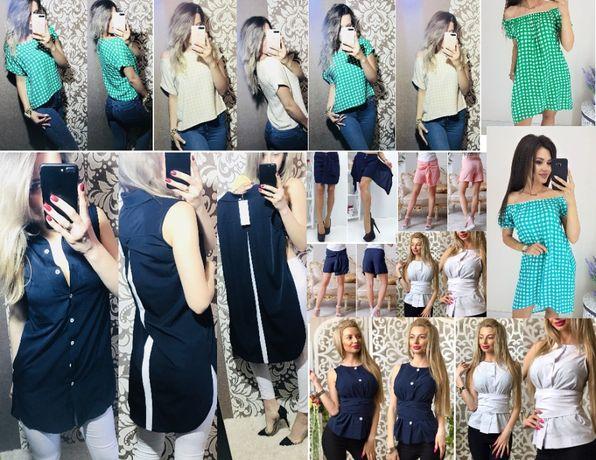 Блузки, платья, сарафаны, шорты, майки из штапеля