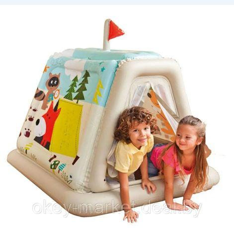 надувной домик-палатка intex звериный лагерь