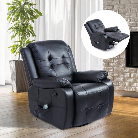Fotel masujący z funkcją grzania rozkładany