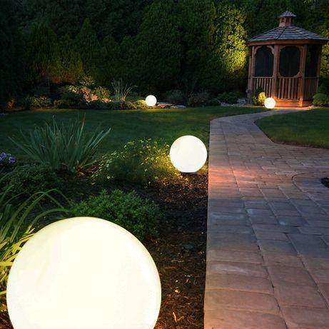 Bestseller biała KULA ogrodowa 50 cm średnicy 230V E27 lampa LED KIRA