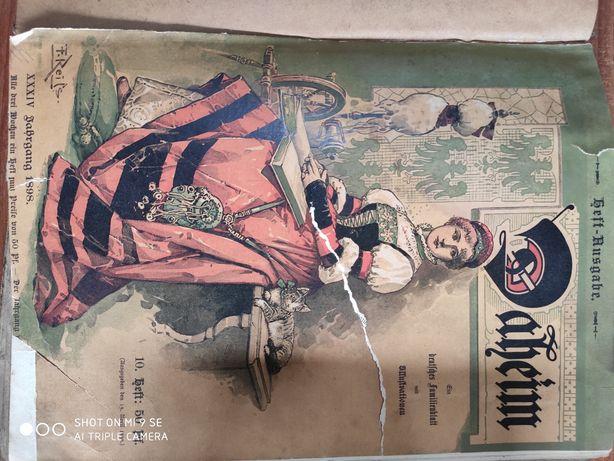 Stare książki w języku niemieckim 1898rok i okres przed wojenny