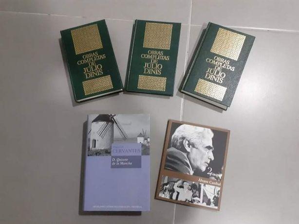5 livros Álvaro Cunhal/ Miguel Cervantes/ Júlio Dinis