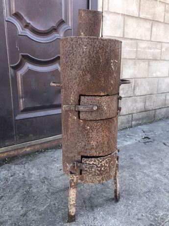 БУРЖУЙКА стальная топка печка плита на дровах средняя 25 кг на ножках