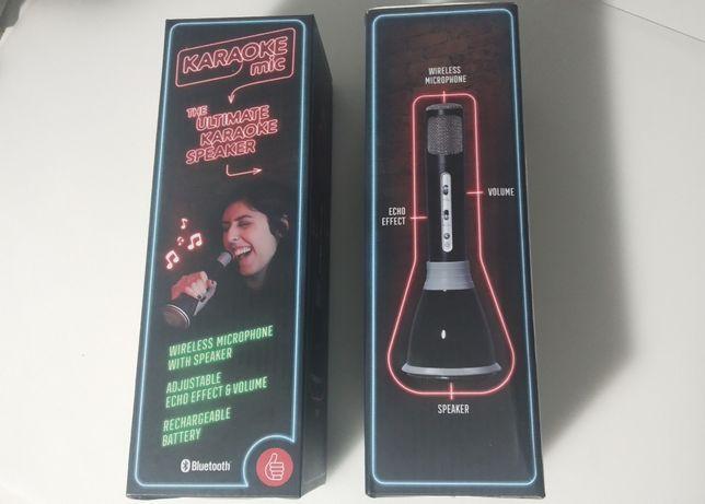 Bluetooth Karaoke com microfone e coluna sem fios NOVO e SELADO