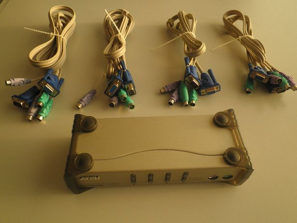 KVM Switch 4 Canais VGA+PS2/PS2, ATEN CS84A