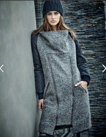 Luksusowy wełniany płaszcz NÜ denmark S/M 36/38. Jak nowy