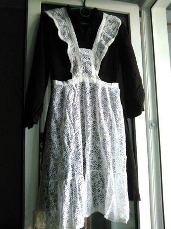 Продам школьное коричневое платье