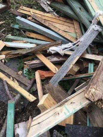 попилить дрова (с гвоздями)