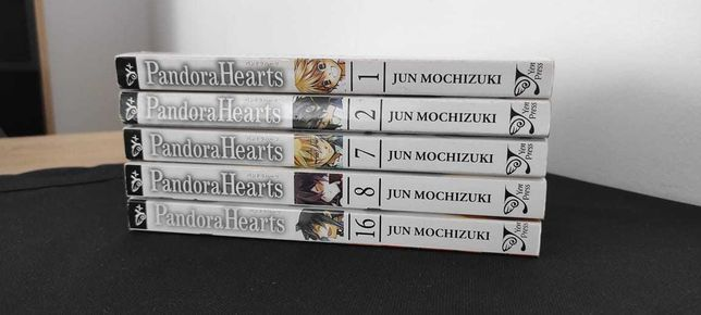 Manga PANDORA HEARTS 1, 2, 7, 8, 18 po angielsku