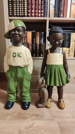 Figuras Africanas em Barro - Feitas à mão